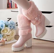 Botines botas muslo mujer talón 9 rosa amarillento blanco como piel 9384