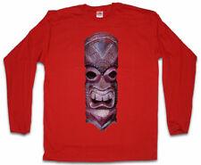 TIKI HEAD III LONG SLEEVE T-SHIRT Tattoo Rockabilly Custom Psychobilly Skull
