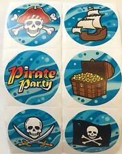 100 Pirate Skull Crossbones Stickers Party Favor Teacher Supply Halloween #2