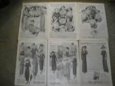 6 FASHION ADS / 1912-1920 BELLAS HESS & CO., N.Y.  ADS