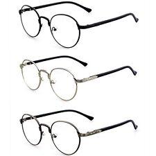 Fashion Hipster Vintage Retro Metal Frame Clear Lens Glasses Nerd Geek Eyewear