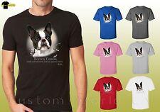 Boston Terrier Graphic Shirts Dogs boston terrier Design Unisex T-Shirt (17401)