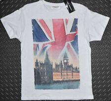 Primark Union Jack British Flag MENS T SHIRT BIG BEN GB UK Sizes L or XXL