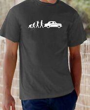 Evolution of Man, Austin Cambridge A40 t-shirt