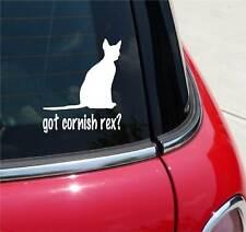 GOT CORNISH REX? CAT GRAPHIC DECAL STICKER ART CAR WALL DECOR