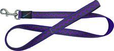 Hem & Boo Bold Zig Zags PURPLE Adjustable Dog Puppy Lead durable nylon webbing
