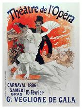 Theatre de L'OpÂŽre wall Decoration Poster. Graphic Interior Art design. 3221