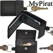 3 kleine Geldbörsen Schlüsselanhänger Rindleder Schlüsseletui Schlüsseltasche