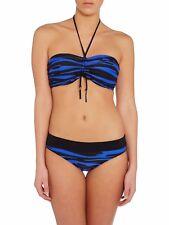 NEW SEAFOLLY FASTLANE BLUE BLACK UNDERWIRE BIKINI SET SIZE 16 RRP $168 -FIT DD