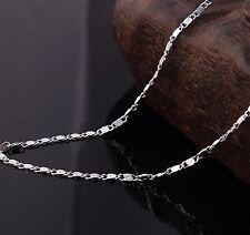 """1.5 mm cadena de Caracol Enlace Cadena Collar Colgante de plata esterlina 925 16-30"""" SNL2S"""