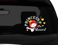 "Princess on Board ! Cute Princess Baby on Board Vinyl Car Decal Sticker 7""(w)"