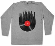 VINYL CITY  LANGARM T-SHIRT Club Retro Music Phonograph record player DJ MC