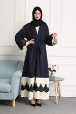 Dubai Abaya Lace Burqa Kaftan Muslim Women Dress Arab Robe Islamic Maxi Cardigan