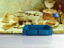3D Mega Table Full Of Food 4616 Wall Paper Wall Print Decal Wall AJ Wall Paper