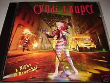 CYNDI LAUPER A NIGHT TO REMEMBER CD CBS  1989 MIT HEADING WEST - LIKE A CAT (YZ)