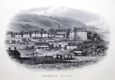 Devon, Westward Ho!, Besley, antique print c 1860