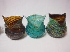 Art Glass table vase Owl shape Bird Multi-coloured Home Decor Brand new 18cm