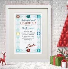 Certificato Di Natale Personalizzata Bravo Bambino Ragazza Regalo Carta Stampa Babbo Natale