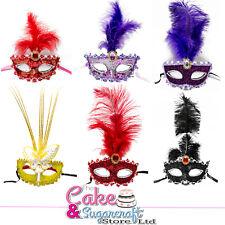 Masquerade Masks, Venetian Glitter/Butterfly Fancy Dress Eye Feather Ball Masks