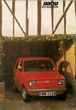 FIAT 126 594Cc 1973-75 UK vendite sul mercato opuscolo