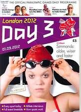 Jeux Paralympiques 3 jours trois quotidiens programme London 2012