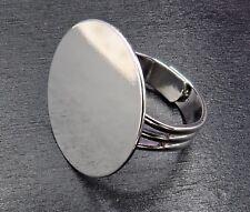 Großpackung 100 Ringrohlinge Ringe Rohlinge mit Klebefläche Farbe silber #S400