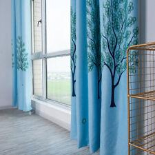 Copper Money Tree Blackout Curtain Living Room Bedroom Drapes Home Decor Q