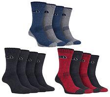 Storm Bloc - 4 Pairs Mens Anti Sweat Padded Lightweight Walking Work Boot Socks