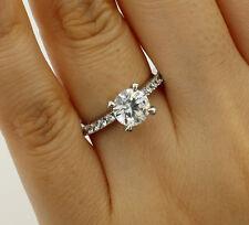 Engagement Wedding Bridal Propose Promise Ring 1.50 Ct 14K White Gold Round