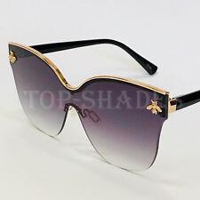Fashion Moth bug cat eye Metal Oversize Design Women Bee Style New Sunglasses