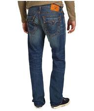 $317 NEW True Religion Jeans Men Ricky Straight Leg Studded Logo Blue 29-30 x 34