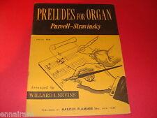 Preludes for Organ 1961 Purcell Stravinsky Mozart Haydn Grieg Bach Handel more