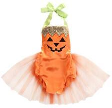 Bilo Baby Girl Halloween Pumpkin Costume Bodysuit Tutu Skirt