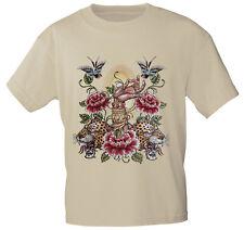 (10893 beige) T-Shirt unisex S M L XL XXL Damen + Herren Shirts ○ Tiger ○ Hand ○