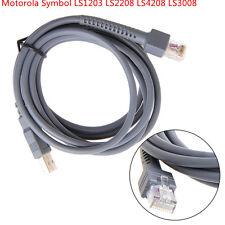 USB Motorola Symbol Scanner CODICE A BARRE Cavo LS1203 LS2208 LS4208 LS3008 DS3400 687