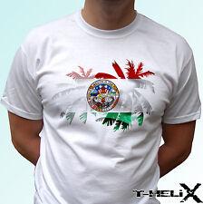 Bandera de Palma de San Diego-Blanco T Shirt Top Diseño Usa-Para Hombre Para Mujer Kids & Baby