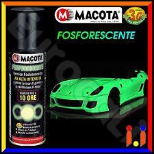 MACOTA Fosforescente Vernice Spray 200ml Smalto Alta Visibilità Tuning NON COLA