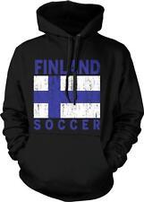 Finland Flag Soccer Suomi Suomen Jalkapallo Lippu Finnish Pride Hoodie Pullover