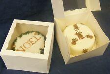 5 x 10 inch square white window top cake / gateau boxes