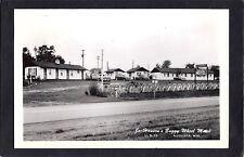 Augusta Wisconsin WI 40s RPPC Buggy Wheel Motel ol Iron
