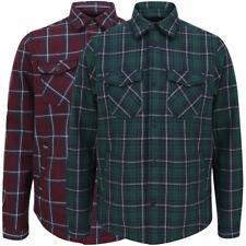 Dissident Men's Thick Fleece Lined Check Work Shirt Overshirt Jacket Top Warm