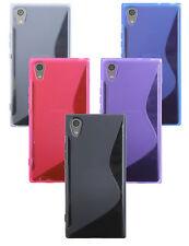 Sony Xperia XA1 Zubehör /// Handyhülle Bumper + Schutzfolie FARBE frei wählbar