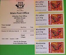 """** nuevo ** Post & Go-GI02 - """"principal"""" de la oficina de correos de Gibraltar-Gallo Sellos-IED"""