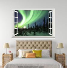 3D Grün Aurora 645 Offen Windows WallPaper Wandbilder Mauer Druck Deco Carly