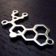 LSD Molecule Charms - 33mm Wholesale Chemistry Pendants C7395 - 5, 10 Or 20PCs