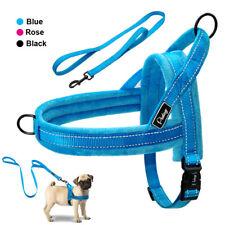 US Safety Reflective No-pull Dog Harness and Leash Soft Padded Pitbull Greyhound