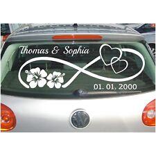 Aufkleber Hochzeit Unendlich Zeichen Liebe Namen Datum Autoaufkleber Sticker 7