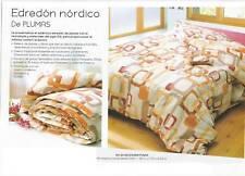 Edredón nórdico plumas 150 x200 , no es necesario fundas+1 NOCHE DE HOTEL PARA 2