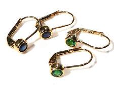 Bijou plaqué or 18 carats boucles d'oreilles dormeuses no 2 earrings