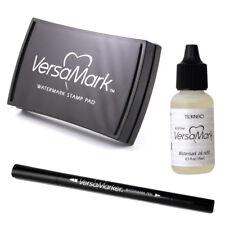 VERSAMARK Heat Embossing Ink Pads Large, Double Detail Pen & Refill (Tsukineko)